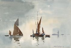 Spritsail Barges - Edward Wesson