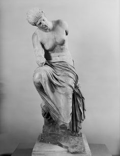 Marble statue of a seated muse | Roman | Imperial | The Met