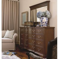 Thomasville® Tate Street Drawer Dresser w/ Mirror