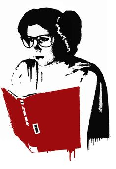 """Leia Reads"" stencil for Star Wars Reads Day #SWRD 
