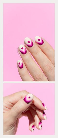 how fun are these vibrant heart valentines nails? Valentine's Day Nail Designs, Prom Girl, Prom Nails, Holiday Nails, Nail Arts, Valentines Day, Vibrant, Fun, Heart