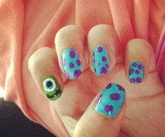 Monsters Inc Nails!