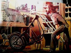 DAVID MANN EASYRIDERS NEW PAINT CLASSIC MOTORCYCLE ART