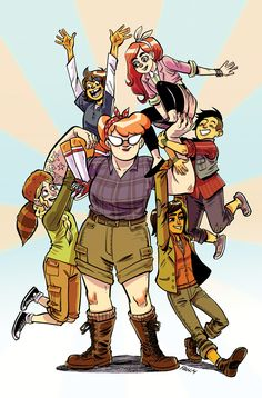 Lumberjanes Issue #1 : About 5 teenage girls having adventures at a magical camp.