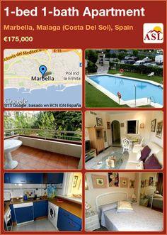 1-bed 1-bath Apartment in Marbella, Malaga (Costa Del Sol), Spain ►€175,000 #PropertyForSaleInSpain