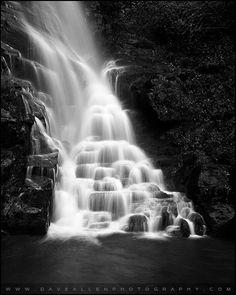 Eastatoe Falls - Waterfall B Photography By Dave Allen Photography, North Carolina.