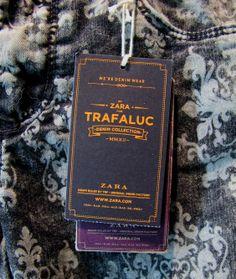 Zara Trafaluc denim #hangtag