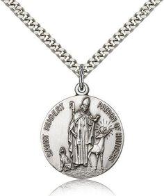 $75 Sterling Silver St. Hubert of Liege Pendant Bliss, http://www.amazon.com/dp/B004LW6AZC/ref=cm_sw_r_pi_dp_9hg1qb0659KD3