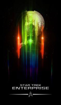 : Star Trek Enterprise by Lewis Niven Star Trek Tv, Star Wars, Star Trek Ships, Aliens, Science Fiction, Deep Space Nine, Star Trek Wallpaper, Iphone Wallpaper, Star Trek Posters