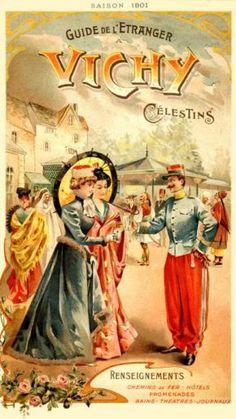 Vintage Guide de l'Etranger - Vichy -  Thermes Callou - 1901.