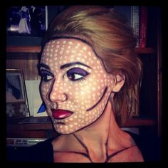 Jodi Aaby: Lichtenstein pop-art Makeup! Tutorial ... Pop art / comic book / Lichtenstein makeup