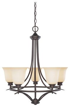 Designers Fountain 96985-ORB 5-Light Chandelier - transitional - Chandeliers - Lighting Front