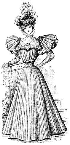 Free Vintage Image French Fashion 1896   Old Design Shop Blog