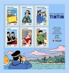 tintin stamps