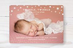 Twinkle Twinkle Birth Announcements by Oscar & Emma at minted.com