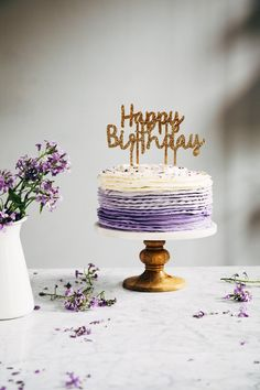 30th birthday chocolate cake with lavender ruffle frosting   hummingbird high    a desserts and baking blog