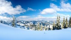 Snowy Mountains Beautiful Scenery Landscape Blue Sky Nature