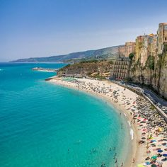Best and Most Beautiful Beaches in Italy Tropea Italy, Calabria Italy, Places To Travel, Travel Destinations, Places To Visit, Beach Trip, Vacation Trips, Beach Vacations, Beach Travel