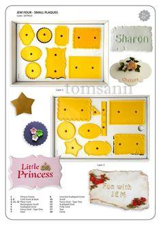 JEM Four Set Small Plaques cutters (17pc) #107p013 gum paste cake decorating #JEM