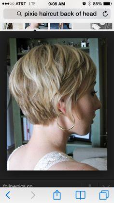 Pixie Haircut Rear View | Pixie cut back view
