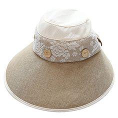 IL Caldo Womens Newsboy Cap Sun Hat Large Brim Bow Button UV Linen Travel  Beach Hats 5251d5ecfedc