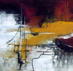abstract-acrylic-ink on canvas