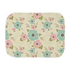 "Nostalgic flowers Burp Cloth Beige seamless vintage pattern ""Nostalgic flowers""  $20.79"