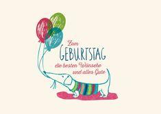 Zum Geburtstag die besten Wünsche & alles Gute (kleiner Dackel) | Happy…