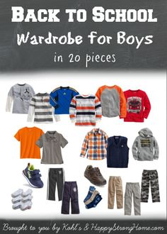 back to school wardrobe for boys #sponsored #style