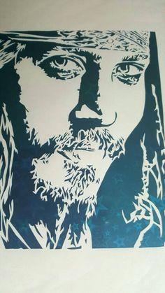 Johnny Depp picture portrait Captain Jack Sparrow Pirates of