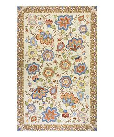 Look at this Beige Scandi Wool Rug on #zulily today!