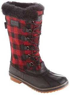 Waterproof Rangely PAC red buffalo plaid boots from LL Bean, these are so cute! They're perfect for the holidays ❤️Aff