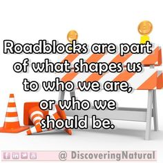"""Roadblocks are part of what shapes us to who we are or who we should be""    What roadblocks have you experienced on your ‪#‎NaturalHair‬ Journey?  Find help>> http://youtube.com/DiscoveringNatural"