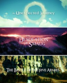 The Hobbit trilogy awesome movies