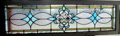 Antique American Stained Glass Transom Window Nice Architectural Salvage | eBay