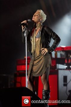 Alecia Moore aka Pink performing live at Festival...