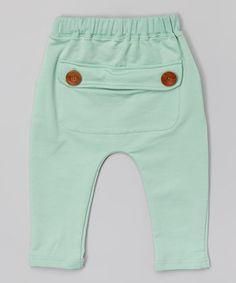 Love this Mint Button Pocket Harem Pants - Infant, Toddler & Kids on #zulily! #zulilyfinds