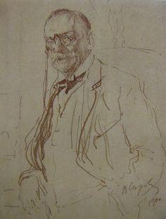 В. А. Серов Портрет И. А. Всеволожского 1890 литография