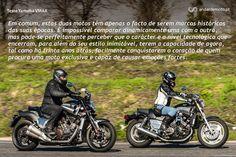 A nova e a antiga V-MAX, Duas motos controversas, capazes de tão facilmente gerar polémica como de deixar uma risca de pneu no asfalto