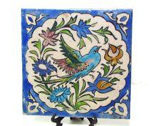 Persian Glazed Pottery Tile Plaque..amazing.design