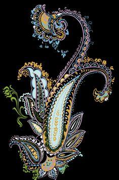 Paisley Art, Paisley Design, Paisley Pattern, Pattern Art, Textile Prints, Textile Design, Textiles, Flower Art Images, India Art