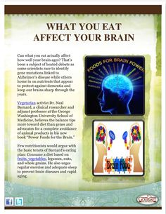 what-you-eat-affect-your-brain by Arnie Kaye Dillen via Slideshare