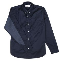 Bluesville / Navy Textured Dyer's Sleeve Shirt - Natural Indigo / Easy Styled Garments