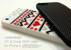 Diy cross stitch case for I phone 5