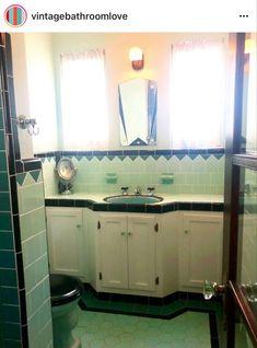 Retro Bathrooms, Double Vanity, Rustic Bathrooms, Double Sink Vanity