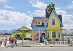 "Real life ""Up"" house. Now that is a dream home for a Disney lover like me"