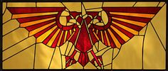 Warhammer 40k Imperial Aquila Stained Glass Panel - Limited Edition Print - need to show jerm