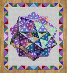 "[Tom Pensyl's Polyhedron Quilt] ""Piece of Hyperspace"" Quilt Pattern"