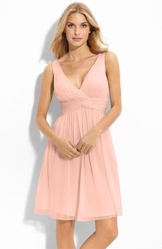Donna Morgan Twist Silk Chiffon Dress in Peach Fuzz  148 Cute Bridesmaid  Dresses e2540b41e34c