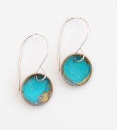 Blue Dome Earrings.